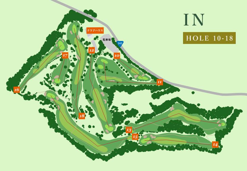 地図:インコース